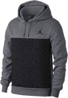 hot sale online fef34 26003 Jordan Flight Fleece Cement Pullover Hoodie - Mens - Carbon Heather Black  Jordan Shoes,