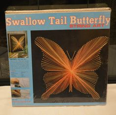 Vintage Unopened 1975 American Handicrafts String Art Kit Swallow Tail Butterfly | eBay