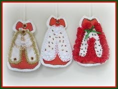 Linda Walsh Originals Dolls and Crafts Blog: My New Free Linda's How-Do-I Series? How To Make Our Victorian Cut and Sew Christmas Group #2 Dress Ornaments E-Book Tutorial