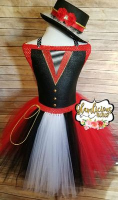 Your place to buy and sell all things handmade Costume Halloween, Costume Ringmaster, Newborn Halloween Costumes, Tutu Top, Tie Dress, Dress Skirt, Top Dos Nu, Red Birthday Party, Tops