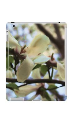 White flowers in spring by cocodes #ipad case #redbubble http://www.redbubble.com/people/cocodes/works/21624297-white-flowers-in-spring?p=ipad-case