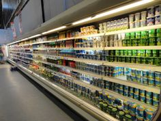Supermarket Shelves, Poland, Yogurt, Dairy, Wall, Ignition Coil