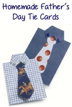 How to Make Homemade Father's Day Tie Cards! #fathersday