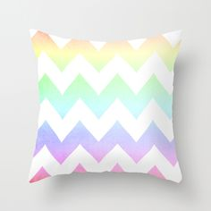 Big Chevron (Coral & Mint) Throw Pillow by daniellebourland from Saved to Epic Wishlist. Coral Pillows, Chevron Throw Pillows, Cute Pillows, Bed Pillows, Comfy Cozy Home, Rainbow Bedding, Textiles, Little Girl Rooms, Ballerinas