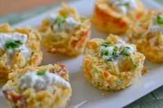 These bacon and cheddar potato puffs are so delicious. Mashed potatoes are added into a mixture of sour cream, bacon, cheese, chives and eggs, then baked.