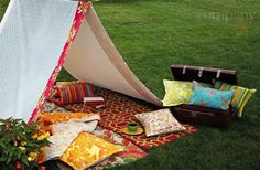 glamping - and yup, think I need to do this for me...great place for a nap, me thinks...