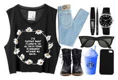 """""""flowers"""" by jessica69b ❤ liked on Polyvore featuring мода, Cheap Monday, Ray-Ban, Vans, Nine West, Bobbi Brown Cosmetics, Rimmel, women's clothing, women и female"""
