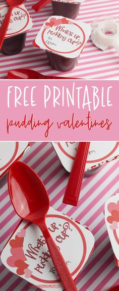 These simple pudding cup valentines for kids also come with printable valentine . These simple pudding cup valentines for kids also come with printable valentine cards for kids. Funny Valentine, Roses Valentine, Family Valentines Day, Cute Valentines Card, Printable Valentines Day Cards, Valentines Day Activities, Valentine Treats, Bff, Pudding Cups