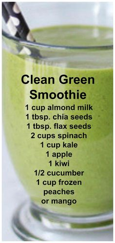 Clean Green Smoothie Full of leafy greens fresh fruits and a few extra healthy surprises you wouldn't even know were in there! Clean Green Smoothie Full of leafy greens fresh fruits and a few extra healthy surprises you wouldn't even know were in there! Smoothie Detox, Smoothie Legume, Keto Smoothie Recipes, Fruit Smoothie Recipes, Smoothie Prep, Apple Smoothies, Healthy Green Smoothies, Clean Eating Smoothie, Vitamix Green Smoothie