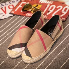 59835dbdc 2017 Ladies Slipony Women Hemp Espadrilles Canvas Denim Ballet Flats Shoes  Brand Designer Flat Loafers Slip