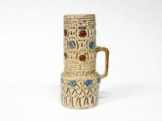 Spara Mid Century West German Handled Vase by Halidun Kutlu | 1970s Pottery | Retro Ceramics | German Pottery | 712-55 - pinned by pin4etsy.com