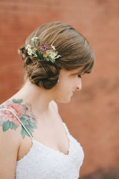 Great placement. Lovely tattoo. I love the idea of vintage flowers.