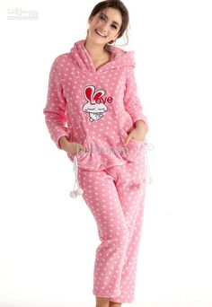Hottest Lovely Coral Fleece Womens Pyjamas Homewear Nightwear With Love Rabbit Sg092 From Fashionup, $29.96 | Dhgate.Com