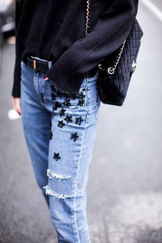 Something Navy in the Jacqueline Straight in Jupiter Embellished