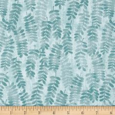 Fernwood Handblocked Fern Lagoon from @fabricdotcom  Designed by Jennifer Young for Benartex, this fabric is perfect for quilting, apparel and home decor accents. Colors include shades of blue.