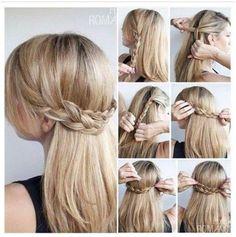 Criss-cross braid - straight hairstyle