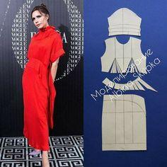 Front pattern Victoria dress