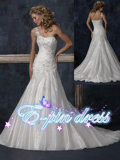 wedding dress lace wedding dress/lace fishtail by epindress, $189.00