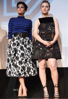 Eva Mendes In Michael Kors & Saoirse Ronan In Valentino – 'Lost River' Q&A SXSW Music, Film + Interactive Festival