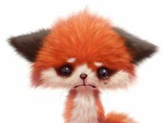 Crying fox Fox, Animation, Cute, Animals, Animales, Animaux, Kawaii, Animation Movies, Animal
