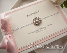 """Glimmer"" Wedding Guest Book. #guestbook #weddingguestbook #glitterwedding #glitterweddingstationery #glitterweddingguestbook #glitterguestbook"