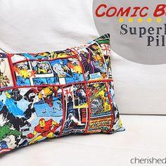 DIY superhero pillows | : Comic book superhero pillow - Free Crafts, Handmade Gift Ideas, DIY ...