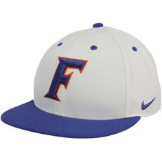 Nike Florida Gators White-Royal Blue On-Field College Fitted Hat 522419f1799e