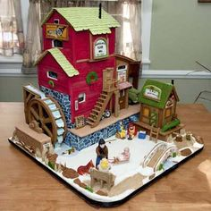 """2009 Gingerbread House Contest Winners - 4th Place: Carson's Flour Mill    """"This flour mill is named after our grandson, Carson. It took 3 months to create"""" Marjorie Ann & Ron M., Carmel, IN"""