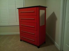 After:  Harrison's new Tool Chest Dresser to go with his race car themed room.