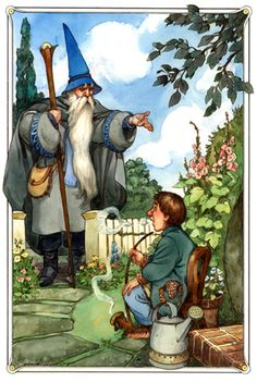 """ The Hobbit"" illustrated by David T. Wenzel - Written by J.R.R.Tolkien - A Tale From England (1937)"