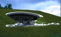 Earth sheltered house is the most ecologically sustainable approach to domestic and small scale Earth Sheltered Building in Australia. Green Architecture, Sustainable Architecture, Architecture Design, Natural Building, Green Building, Building A House, Earth Sheltered Homes, Sheltered Housing, Earthship Home