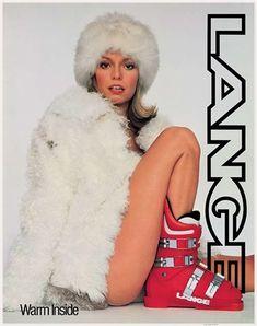 Lange Warm Inside Classic Ski Poster