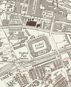 This map is a 'must have' for any Manchester United fan that's interested in the club's rich history. Dating from 1931, it shows Old Trafford - the club's home