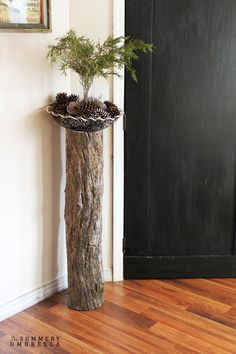Tree Stump Home Decor - The Summery Umbrella