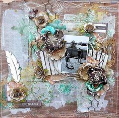Swirlydoos Scrapbook Kit Club: More Artful Blues inspiration ~ Helena
