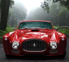 Ferrari in the mist! Vintage UK #vintage #uk #cars
