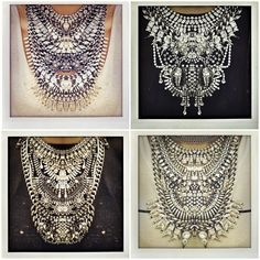 If you know someone who can seriously rock the statement necklace, I say go all out with ~ DYLANLEX. I mean, if you're gonna do it, then do it BIG! Jewelry Accessories, Fashion Accessories, Fashion Jewelry, Women's Fashion, Bohemian Fashion, Street Fashion, Fashion Women, Fashion Ideas, Fashion Shoes