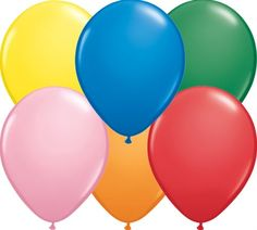 Balão Látex liso Standard Assorment 24 polegadas Qualatex Acessorios para festas