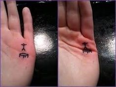 Tiny Tattoo Of A Stickman Jumping On A Trampoline