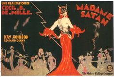 Cecil B. DeMille movie poster for Madame Satan