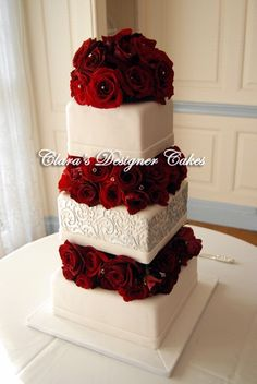 Encouraged to my website, in this time period I'll teach you in relation to Big Wedding Cakes Red. 26 gorgeous wedding cakes for your autumn marsala weddings. what's the hottest wedding color . Wedding Cake Red, Red Rose Wedding, Beautiful Wedding Cakes, Gorgeous Cakes, Wedding Bells, Perfect Wedding, Wedding Cakes With Roses, Winter Wedding Cakes, Christmas Wedding Cakes