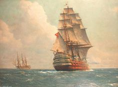 Guerre Men O Passing Ouverte Sur La Mer de Michael Zeno Diemer (1867-1939, Germany)