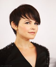 other side of ginnifer goodwin's pixie -- a bit start in the fade to sideburns?