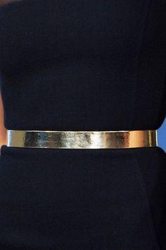 Golden Metallic Belt Trend for Spring Summer 2013.  Oscar de la Renta Spring Summer 2013. #Accessory #Trends