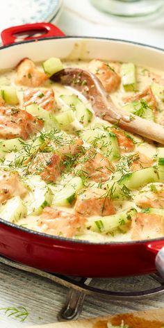Ein Rezept für Sommertage ist diese Schmorgurke mit Lachs. In nur 30 Minuten steht dein frisch gekochtes Gericht am Tisch und kann von dir verkostet werden. Für alle Fischliebhaber und solche, die es noch werden wollen.