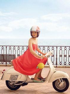 Kate Spade Goes to Capri: Lemons, 50s Italian Flashcards, Mopeds, and False Eyelashes