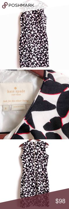 Kate Spade Dress Kate Spade Dress. Great Quality. Butterfly Design. Laying Flat: Armpit to Armpit 18 inch, Length 38 inch. Material: 100% Cotton Shell, 100% Polyester Lining. Great Preowned Condition 🚫No Trades🚫 Due to lighting, the items color is slightly different from photos. Please feel free to ask any questions! Be sure to check out my bundle discount as well. kate spade Dresses Mini