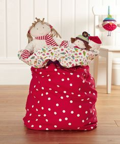 'Dotty About Christmas' Toy Sack - Personalised Toys & Gifts - Mamas & Papas