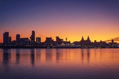Liverpool Skyline, New York Skyline, Scenery, Celestial, Sunset, Landscapes, Travel, Outdoor, Ceramics