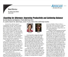 The Advocate Reviews Coaching for Attorneys!